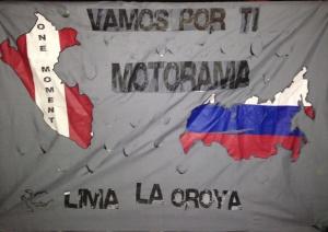 Pancarta - Motorama - La Oroya - Peru